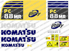 KOMATSU pc88mr Escavatore Adesivo Decalcomania Set
