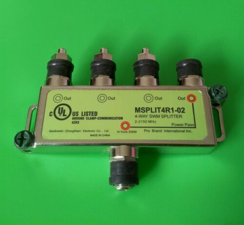 DirecTV 4-Way SWM Splitter MSPLIT4R1-02 1 PC