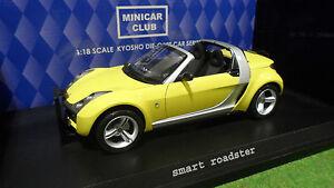 smart roadster cabriolet jaune au 1 18 kyosho 09102y voiture miniature ebay. Black Bedroom Furniture Sets. Home Design Ideas