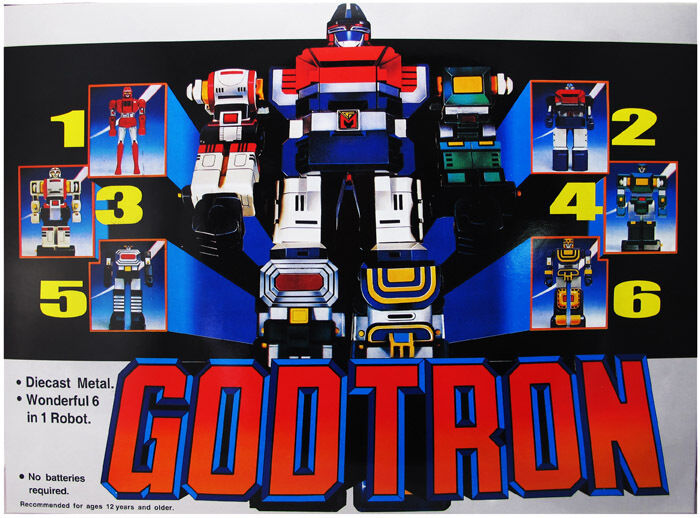 Chogokin Voltron 1980 Six God Combination Godmars Figure Die-cast   Godtron
