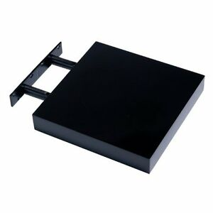 Small Floating Shelf new hudson small black high gloss floating shelf shelving 240 x