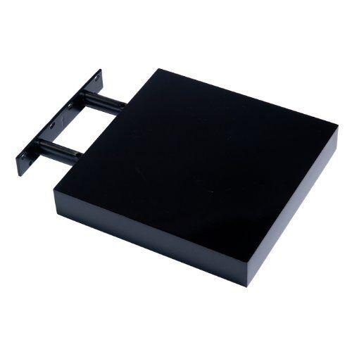 New Hudson Small Black High Gloss Floating Shelf Shelving 240 x 240 x 40MM