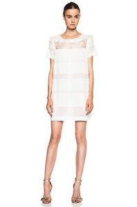 20b58dea50d ISABEL MARANT ETOILE SZ 36 4 CALEEN White Voile Ruffle Mini Dress ...