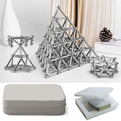 100 Sticks and 68 Balls Metal Magnets Cube Magic Building Blocks Set Childrens