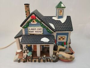 Dickens-Collectables-Lands-End-Boat-House-1997-No-Box-Works