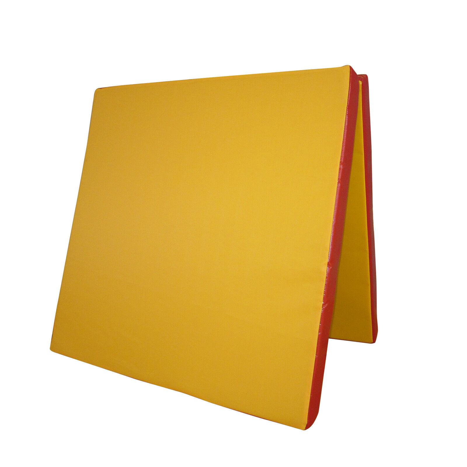 Grevinga® VITAL klappbare Turnmatte GELB - ROT  200 x 100 x 6 cm - RG 22 -138246