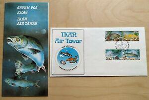 1983-Malaysia-Fresh-Water-Fish-4v-Stamps-FDC-Kuala-Lumpur-postmark-Lot-C