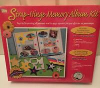 Scrapbooking Kit Strap Hinge Memory Album Kit Includes Enough For 20 Pages