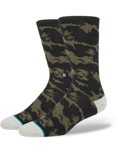 Stance Deep Sea Crew Socks in Black