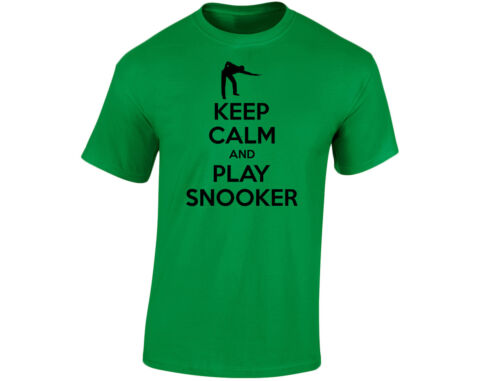 Keep Calm And Play Snooker Mens Funny T-Shirt 12 Colours