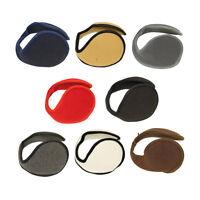 Fleece Ear Muff Solid Color Unisex Ear Warmers One Size Fashion Fleece Muffs
