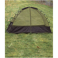 Mil-Tec Military Army Mosquito Mossie Dome Tent Net with Fibre Glass Frame Green
