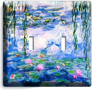 Details About Water Lilies Claude Monet Painting Double Light Switch Wall Plate Room Art Decor