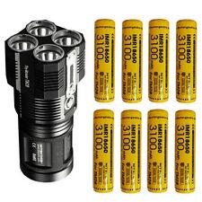 Nitecore TM28 Flashlight 6000Lm w/8x Nitecore Special IMR 3100mAh 10A Batteries