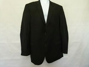 NEW $400 Pronto Uomo Sport Coat Mens 100/% Wool Black 2 Button Jacket Blazer