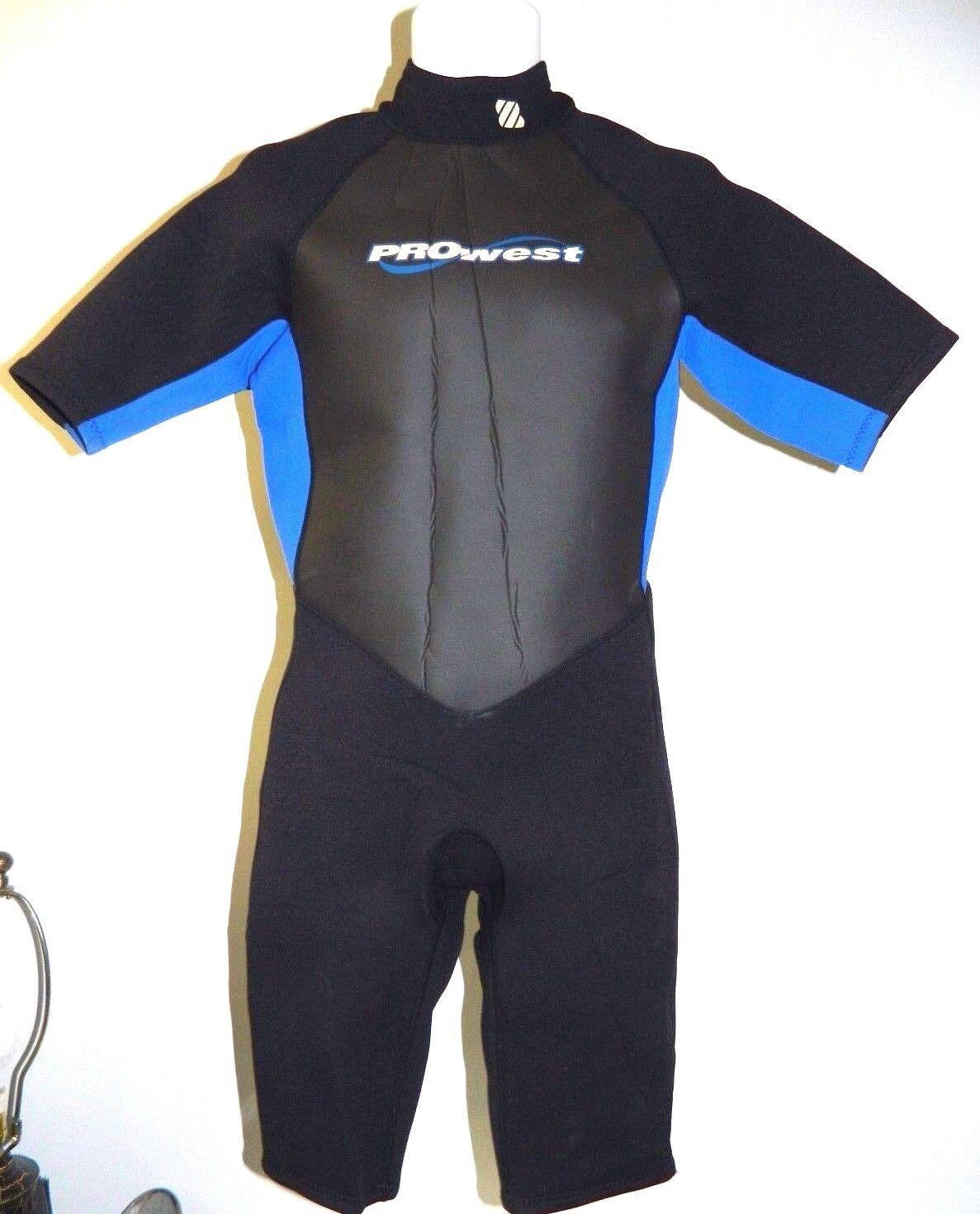 Prowest Wetsuit Men's Shorty Spring Suit Surf Scuba Dive Swim Size Large