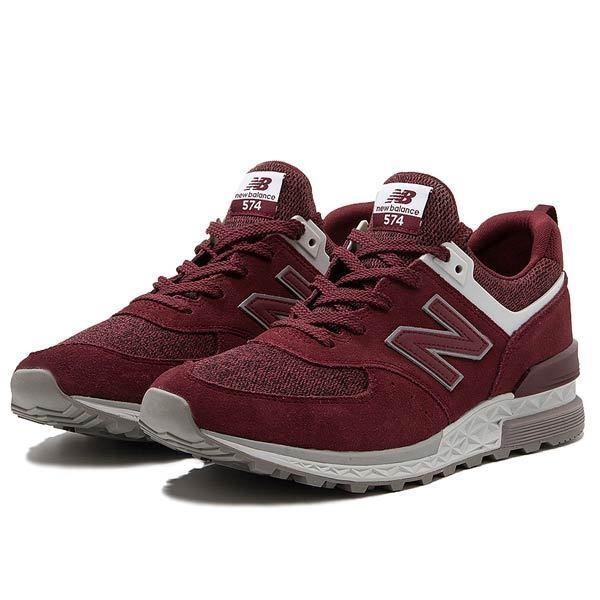 BNWT Homme New Balance Balance Balance MS574 Rouge Bourgogne TRAINER Sneaker dernière paire c3f515