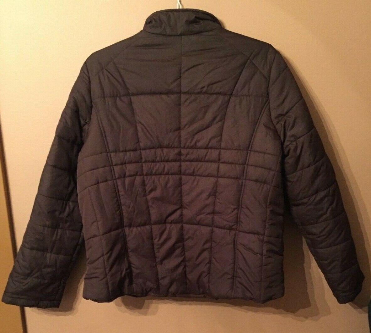 Athletic Works Women's Brown Puffer Coat Zipper Size XL EUC