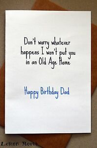 Funny dad birthday card greeting card humour banter father image is loading funny dad birthday card greeting card humour banter m4hsunfo