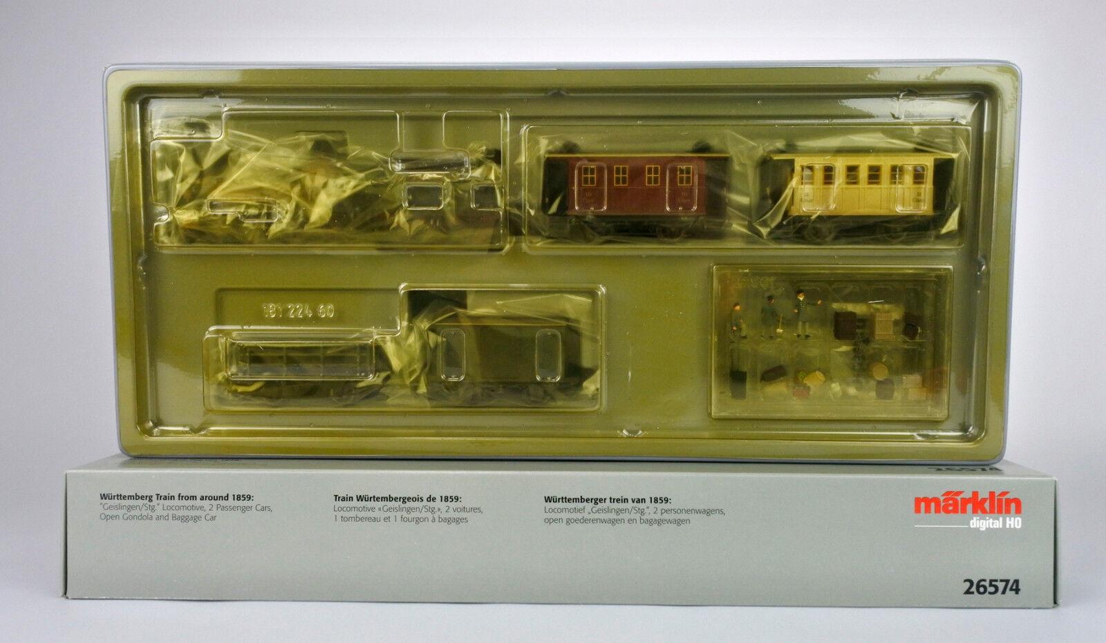 prezzi eccellenti MARKLIN HO SCALE SCALE SCALE 26574 DIGITAL  WURTTEMBERGER  1859 Ssquadra ENGINE TRAIN SET  grande sconto