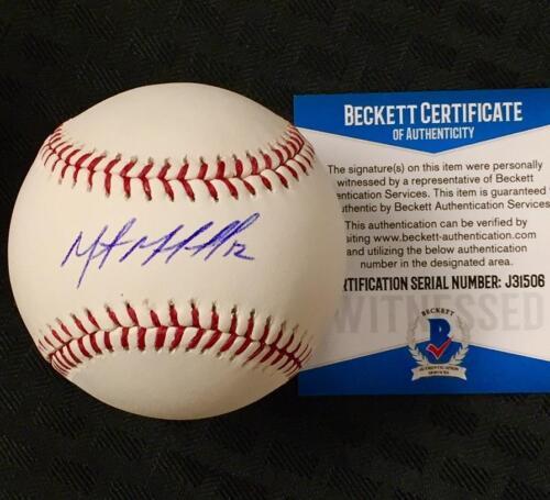 MARTIN MALDONADO Autograph ANGELS Signed MLB Baseball w/ BAS Beckett Witness COA