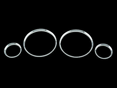 Chrome ABS dash board gauge cluster ring for 83-90 BMW E30 3 series