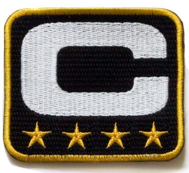 NFL Nuevo Orlean Orlean Orlean Saints Drew Brees THREE 3 STAR ⭐ Oro CAPITÁN C. con Parche + 1df359