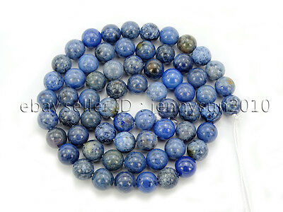 Natural Dumortierite Gemstone Round Spacer Beads 15.5'' 6mm 8mm 10mm 12mm
