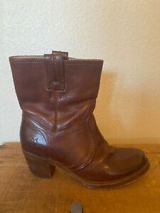 Frye Boots Booties Patty Artisan Women Size 6 Brown Genuine Leather Western