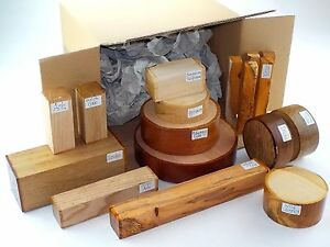 Wood-turning-blanks-gift-selection-pack-Box-of-mixed-sizes-and-species-45