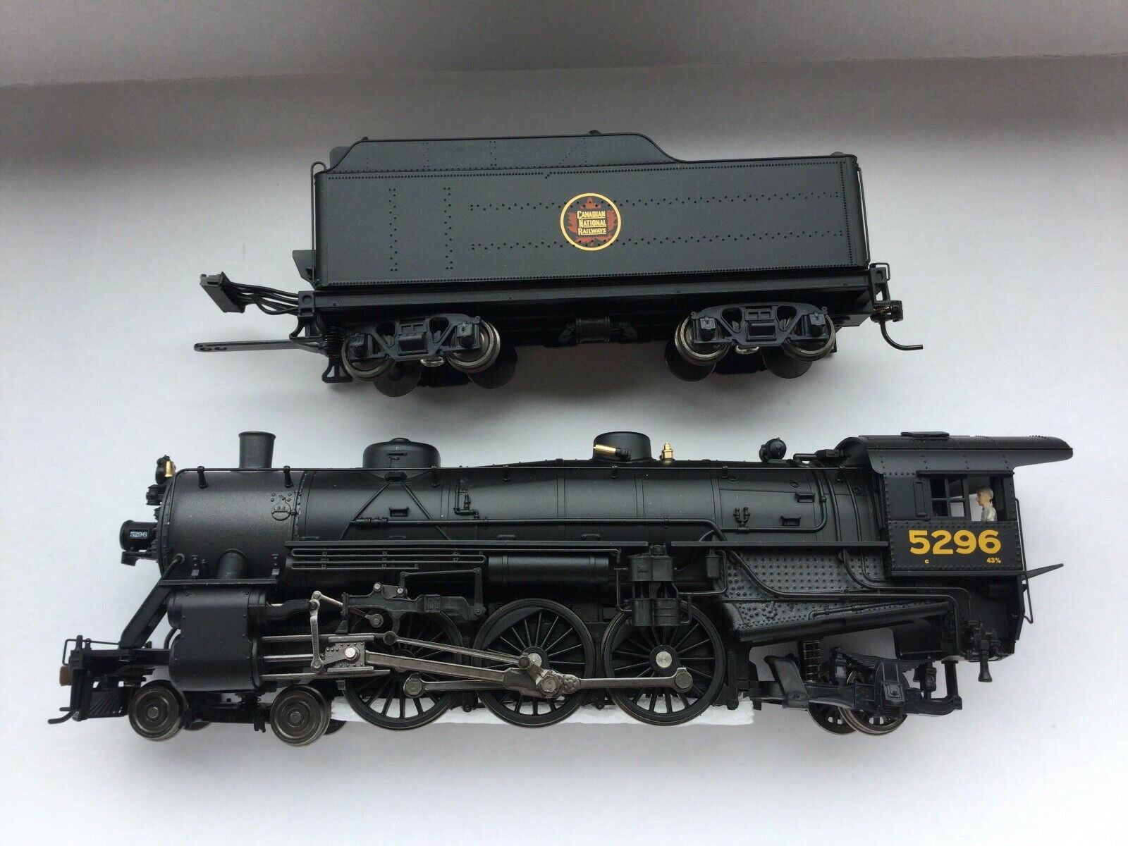 BROADWAY LIMITED 1 87 HO CANADIAN NATIONAL 4-6-2   5296 SOUND DC DCC F S   2929