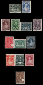 Spain-B1-B13-MLH-MH-CV-113-85-1926-RED-CROSS-ROYALS-SEMI-POSTAL-SET