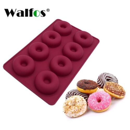 Silicone Donut Mold 8 Pcs At One Time Desserts Baking Form Heat Resistance Safe