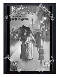 Historic-Hodgman-039-s-Mckintoshes-Raincoats-Advertising-Postcard