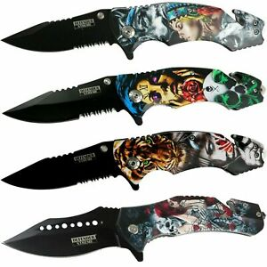 """8.5"""" Tactical Spring Assisted Folding Pocket Knife 3CR13 Stainless Steel Blade"""