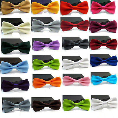 New Fashion Adjustable Men's Multi Color Silk Self Bow Tie Necktie Ties
