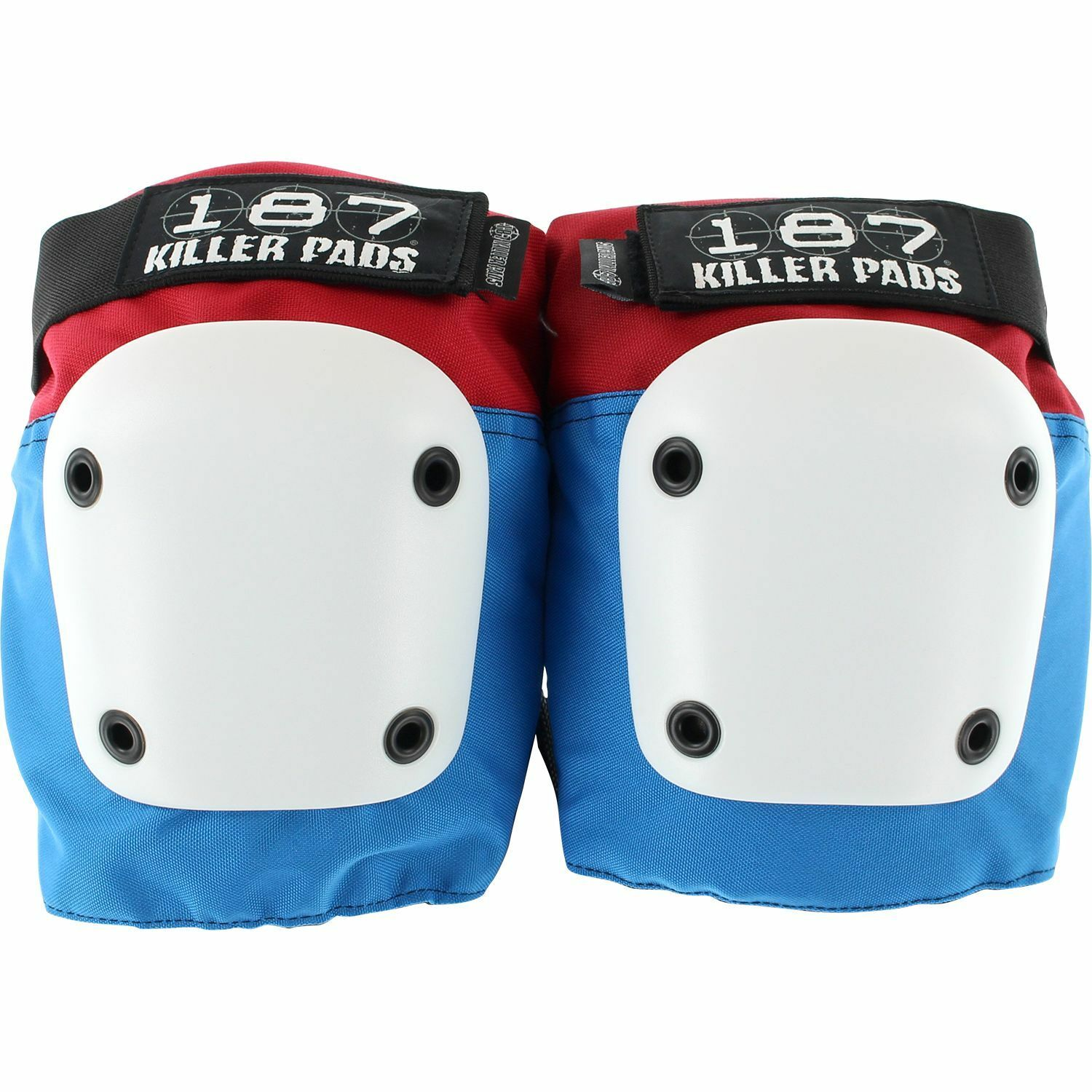 187 Fly Knee Pads M-Red White bluee W White