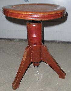 Style Art déco piano tabouret antique vieux piano tabouret chaise environ top deco 3 jambe