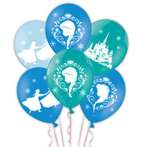 6-Disney-Frozen-4-Sided-Printed-Latex-Balloons-Party-Bunting-Banner-Decoration