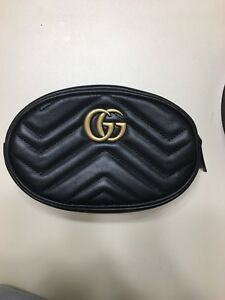 14e8f774294f New Gucci GG Marmont matelassé Black leather belt bag (fanny pack ...
