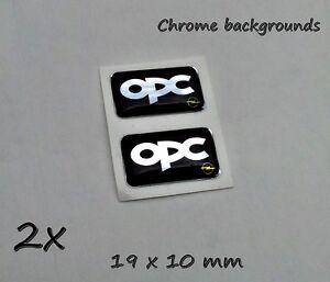 2x opc opel 3d aufkleber set f r schl ssel handy tablet laptop chrom effekt ebay. Black Bedroom Furniture Sets. Home Design Ideas