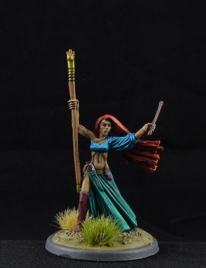 Pintado Tristan el loremistress de Reaper miniatures, Hembra asistente Mage D&D