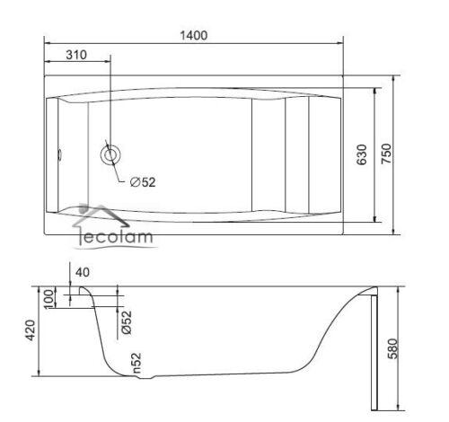 Badewanne Wanne Rechteck 140//150//160//170 x 75 cm Schürze Ablauf Silikon Acryl