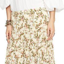 Denim & Supply RALPH LAUREN Women's New beige Floral peasant boho Maxi Skirt S