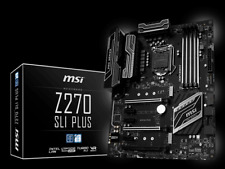 MSI Z270 SLI PLUS Intel Socket 1151 Motherboard Chipset Intel Z270 4x DDR4 Slots