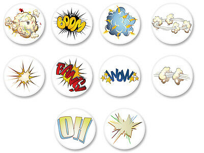 Magnet Aimant Frigo Ø38mm Cartoon Explosion BD Bande Dessinée Toon Animation