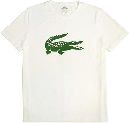Lacoste Men/'s CREWNECK croco logo coupe régulière tee shirt TH6555 100/% coton