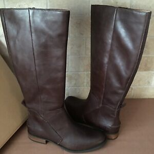 1e7b24617c2 Details about UGG Leigh Dark Brown Equestrian Riding Knee High Zip Tall  Boots Size 9 Womens