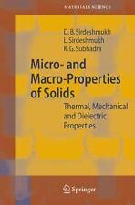 Springer Series in Materials Science Ser.: Micro- and Macro-Properties of...