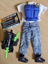 ACTION MAN STREET COMBAT POLICE CLOTHING UNIFORM & ROCKET LAUNCHER 1990'S